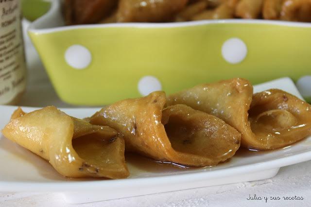 Pestiños con miel. Julia y sus recetas