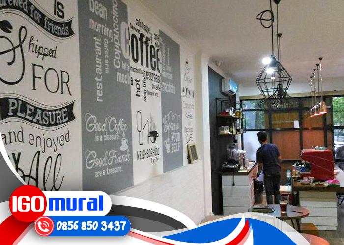 desain dinding cafe coffee unik