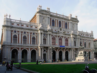 The Palazzo Carignano was the house in which Victor Emmanuel II was born and where the first Italian parliament met