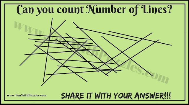 Picture Puzzle to count number of Lines