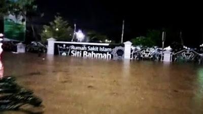 Rabu Malam, Sejumlah Wilayah di Padang Mengalami Banjir