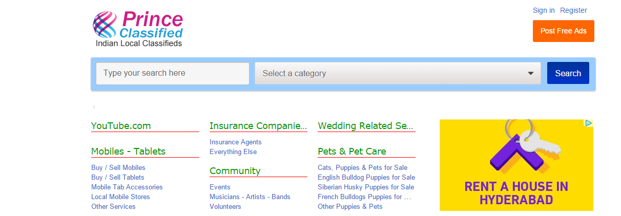 Top Classifieds & Movers List : Top 10 India Classifieds Sites
