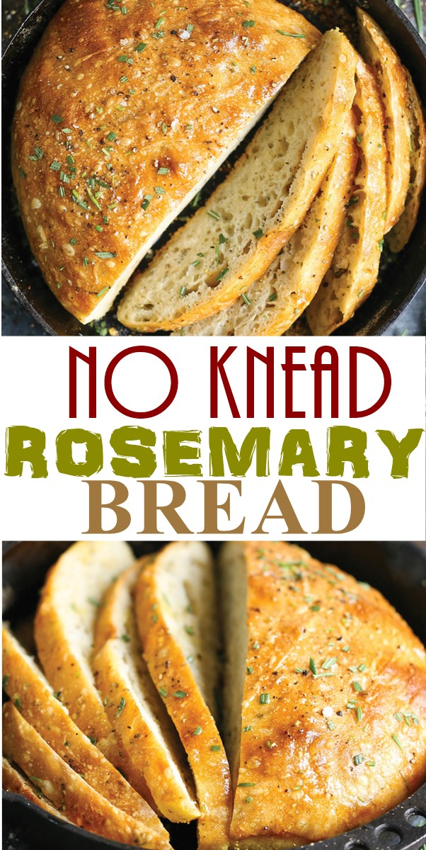 NO KNEAD ROSEMARY BREAD #appetizerrecipes