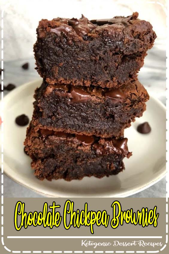 Chocolate Chickpea Brownies are a healthy alternative to regular brownies and are fudgy Chocolate Chickpea Brownies