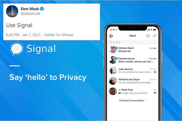 Whatsapp Ubah Kebijakan soal Data Pengguna,  CEO Tesla Elon Musk Ajak Pindah ke Signal