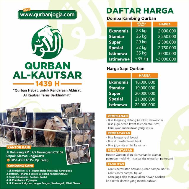 Harga Hewan Qurban terbaik 2018 di qurbanjogja.com