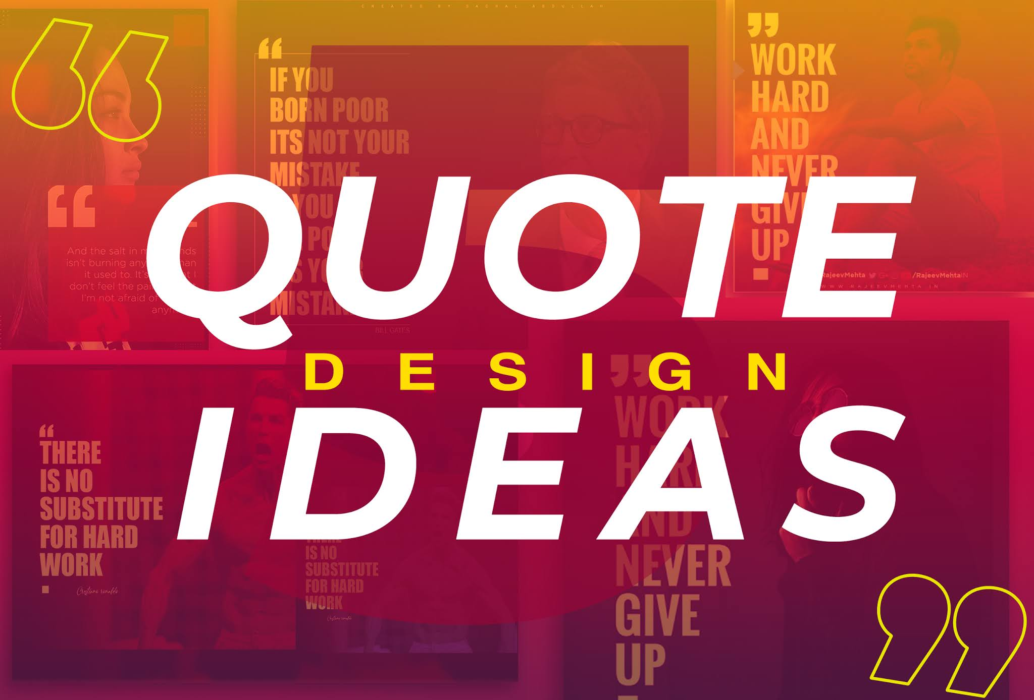 5 Quote Banner Designs/Ideas