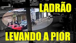 [VÍDEO] LADRÃO ANUNCIA O ASSALTO E POLICIAL ABRE FOGO
