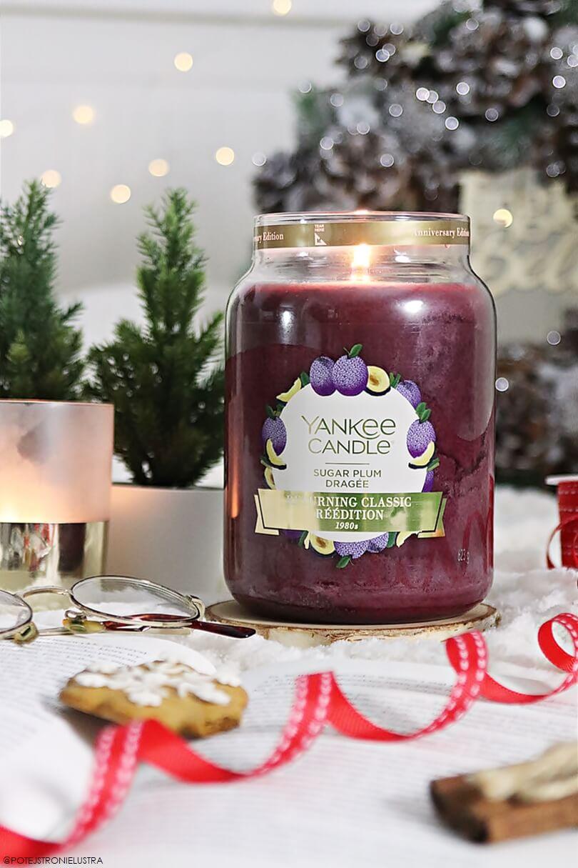 świeca zapachowa yankee candle sugar plum z 2019 roku