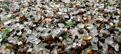 Playa de vidrios o cristales en California.