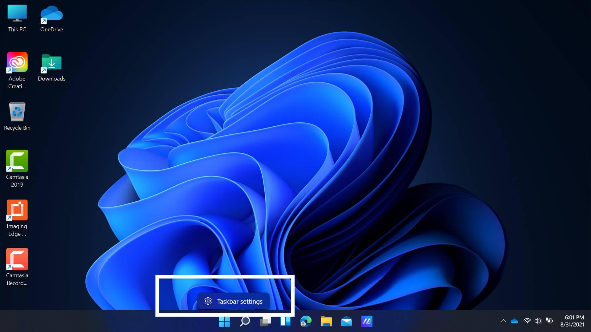 Đưa nút Start Windows 11 trên Taskbar sang trái