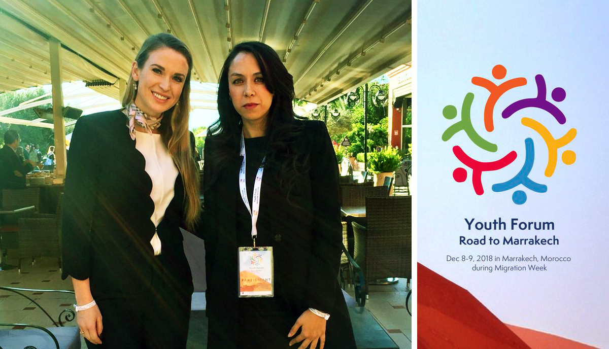 IYF President, Julia BLOCHER with Dr. Sara Amar, IYF Representative in Morrocco
