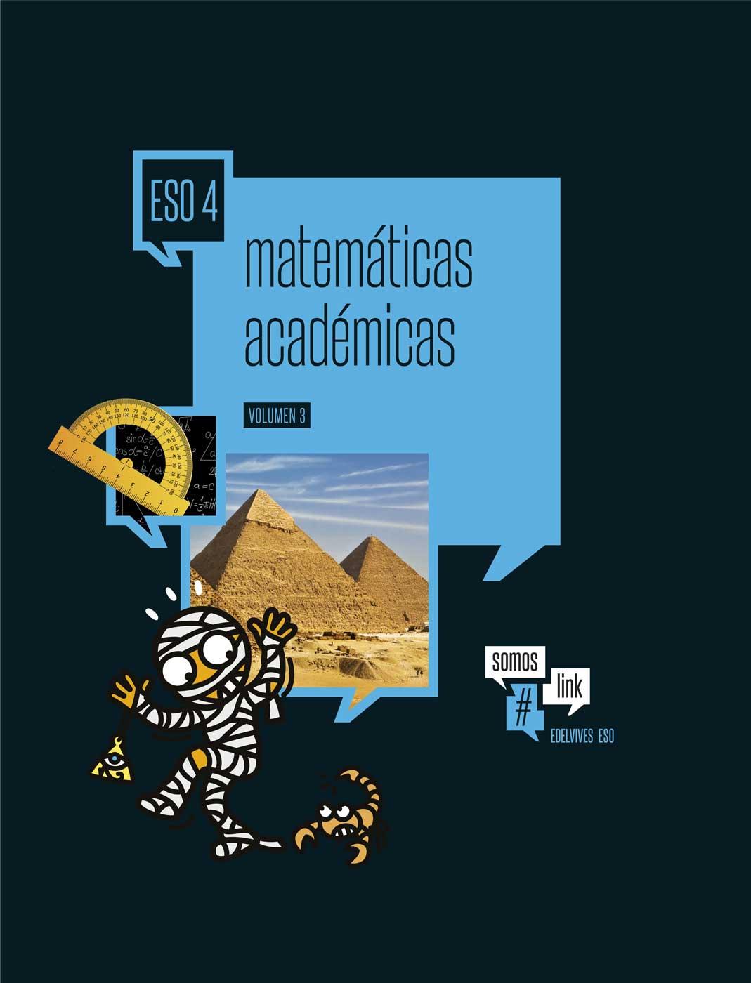 Libro Matemáticas Académicas 4º ESO Edelvives Proyecto #somoslink