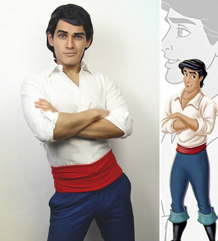 03-Prince-Eric-The-Little-Mermaid-Jonathan-Stryker-Body-Paint-Cosplay-Transforms-into-Animations-and-Cartoons-www-designstack-co