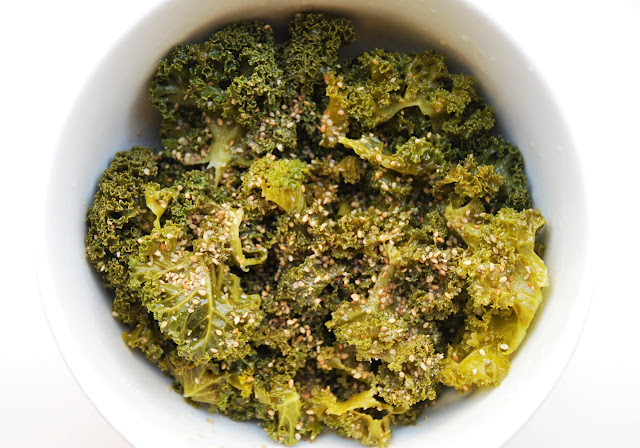 Kale vapeur au sésame