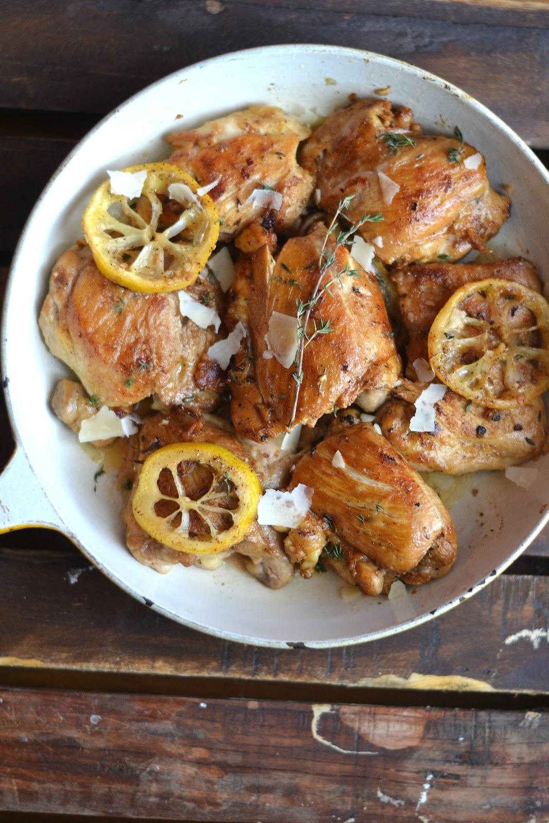 Lemon Garlic Skillet Chicken