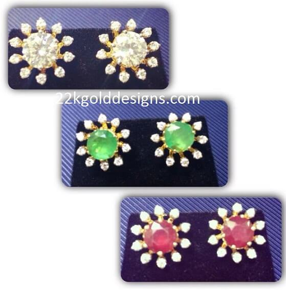Changeable Stones Diamond Studs