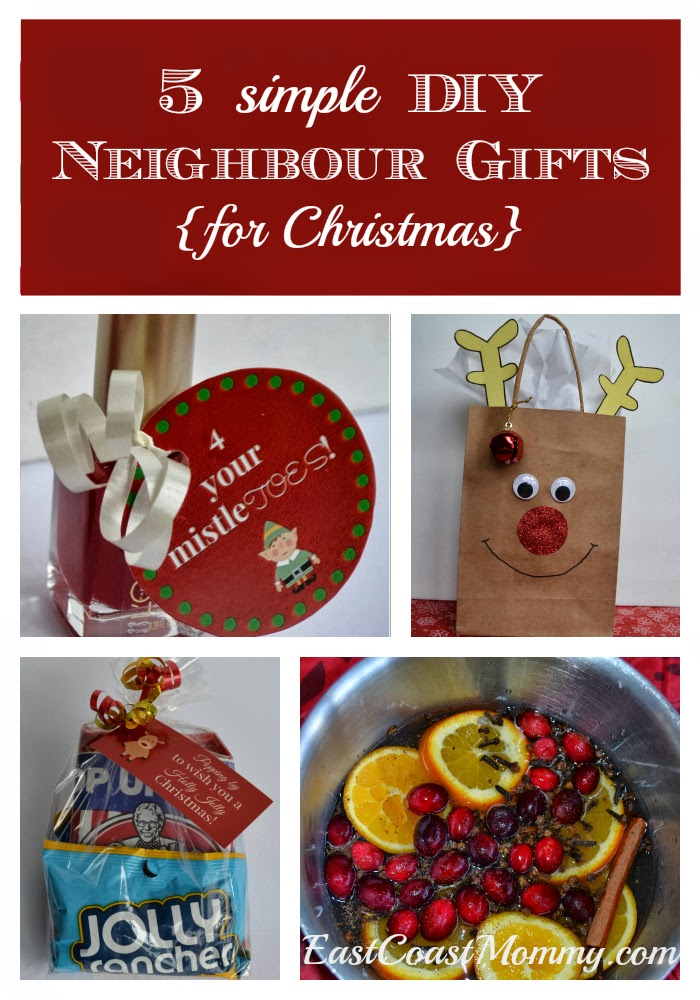 East Coast Mommy: Neighbour Gift Ideas for Christmas {free tutorials ...