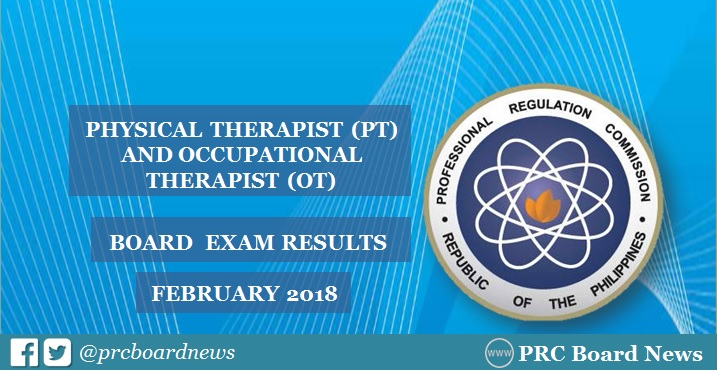 PRC releases February 2018 Physical, Occupational Therapist PT-OT board exam results