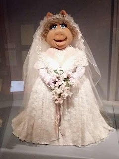 Miss Piggy in Wedding Gown at Museum of The Moving Image.