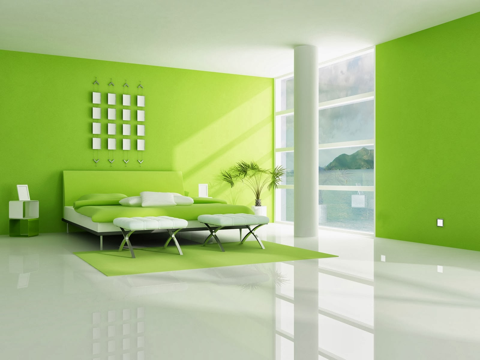 Lime green bedroom decorating ideas for Lime green bedroom designs