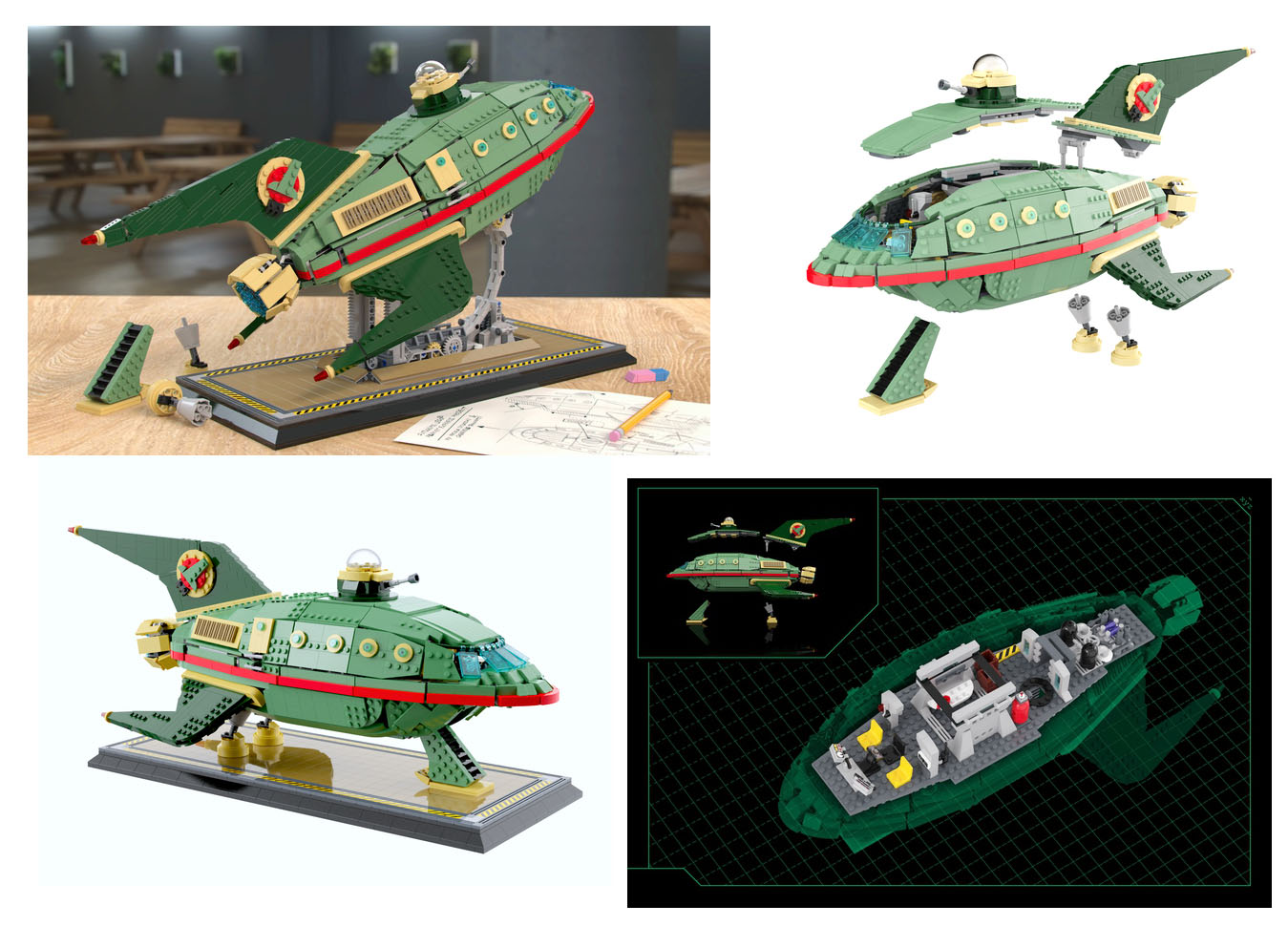 LEGOアイデア・デザイン案:フューチャラマ:プラネットエキスプレスシップ:Planet Express Delivery Ship