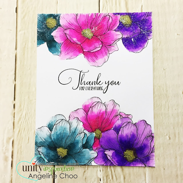 ScrappyScrappy: [NEW VIDEO] Cyber Monday with Unity Stamp #scrappyscrappy #unitystampco #card #cardmaking #papercraft #stamp #stamping #quicktipvideo #youtube #video #spectrumnoir #spectrumnoirsparkle #sparklepen #magnoliaflower #glitterwatercolor #watercolor