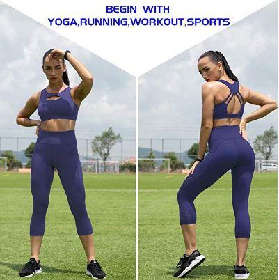 UURUN Workout Running Leggings with Pockets