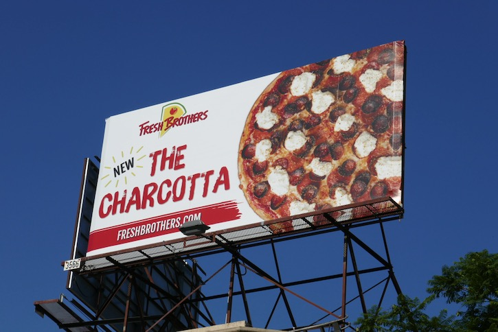 Charcotta Fresh Brothers Pizza billboard