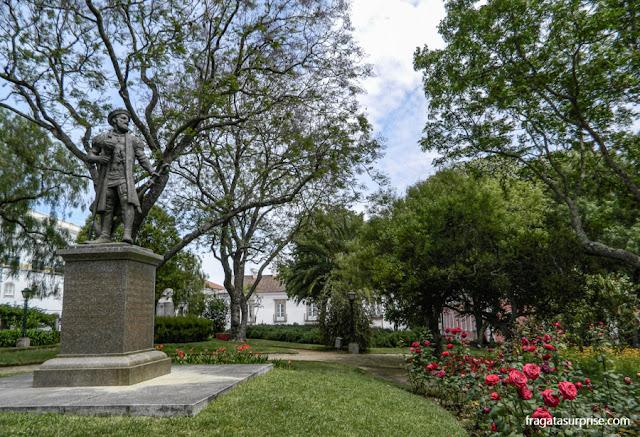 Estátua de Vasco da Gama no Jardim Público de Évora