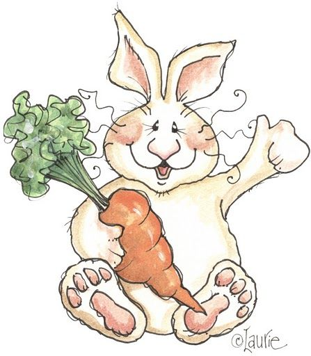 ♥ Dibujos a color ♥: Conejos a color
