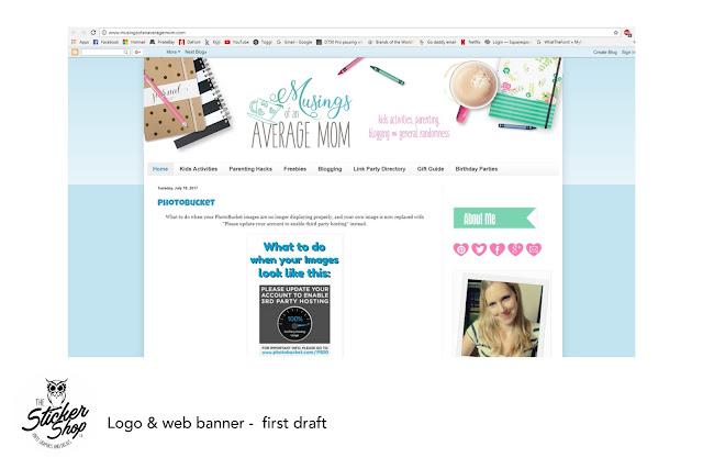 blog header graphic design