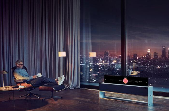 Modalità The horizon line view del LG OLED TV R