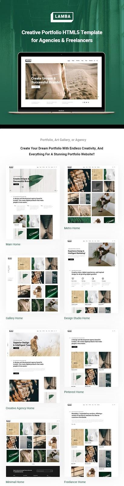 Creative Portfolio & Agency HTML5 Template