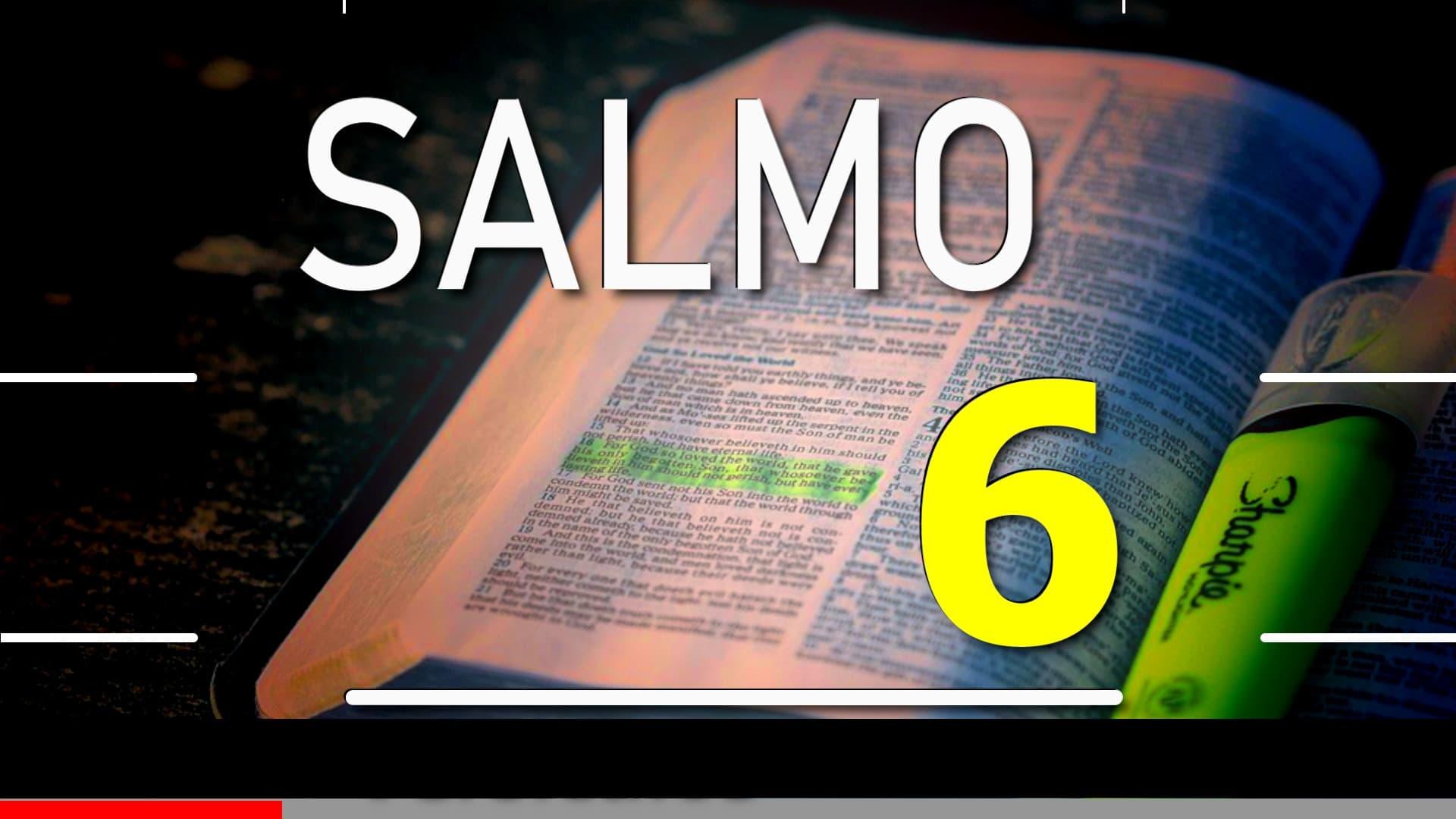 A imagem mostra uma bíblia de estudos aberta com a escrita. Salmo 3; Versículos 1 a 8.