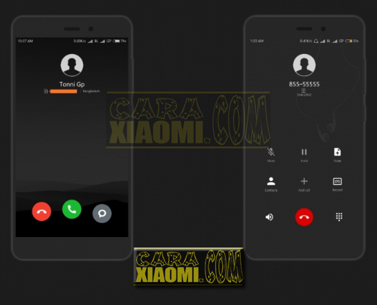 Download Thema Xiaomi MIUI Parallel Dark Mtz For MIUIV9