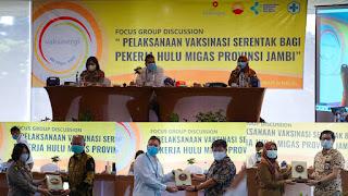 Sukseskan Vaksinasi Covid-19 Bagi Pekerja Hulu Migas di Provinsi Jambi, SKK Migas - PetroChina Gelar FGD