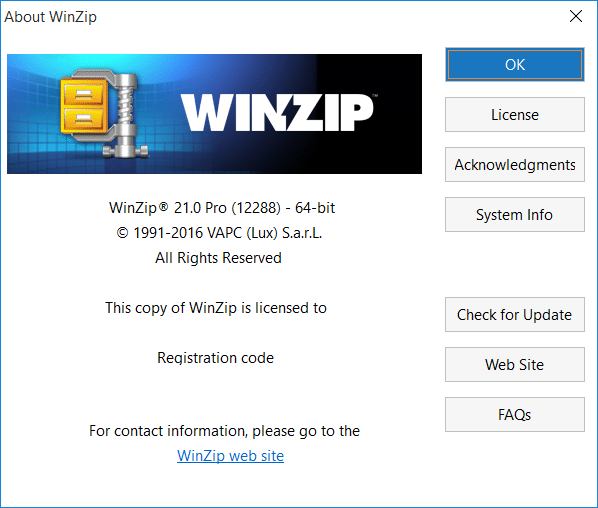 Win]Zip 21 Pro Windows