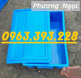 Thùng nhựa đặc công nghiệp, thùng nhựa đặc B4 có nắp, khay nhựa đựng ốc vít Baf2cf0d854860163959