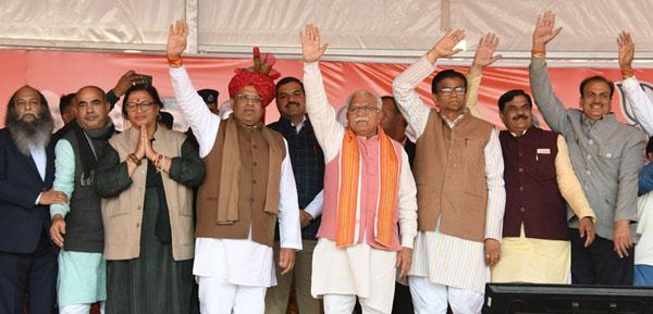 मुख्यमंत्री मनोहरलाल ने फरीदाबाद को 700 करोड़ की घोषणाएं की
