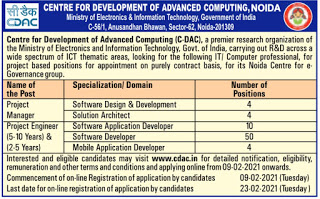 government jobs for computer science engineers in CDAC