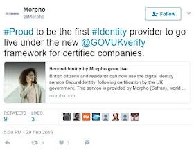 DMossEsq: RIP IDA – Safran Morpho/SecureIdentity