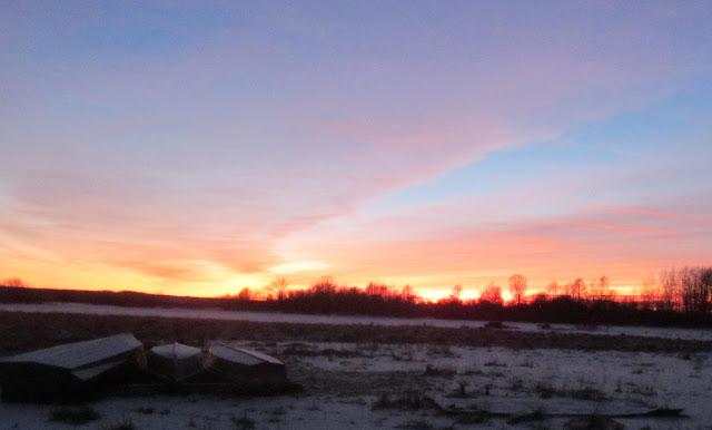 Закат солнца в декабре
