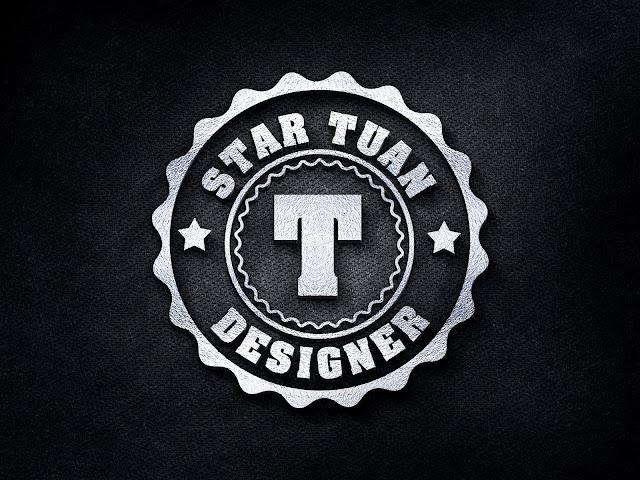 Share Logo MockUp PSD 3D Silver