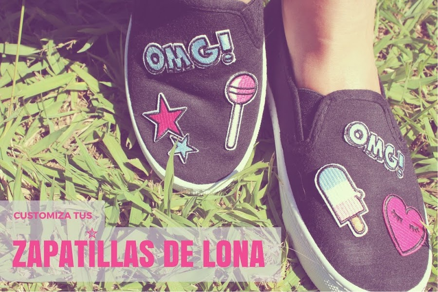 Customizar zapatillas de lona (slip on) - Punto de Lu