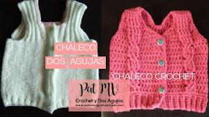 2 Chalecos para Bebés + 8 patrones y tutoriales de tejido a crochet y dos agujas