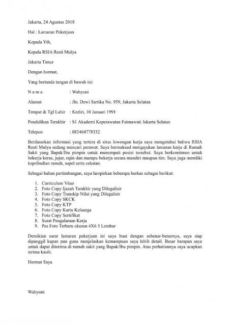 Cara Membuat Surat Lamaran Kerja yang Terstruktur (via: lezgetreal.com)