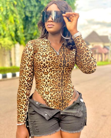 Nollywood actress Luchy Donalds dials up sex appeal in new photo as she leaves little to the imagination