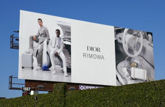 Dior Rimowa SS20 collection billboard