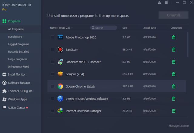 IObit Uninstaller Pro vIObit 10.0.2.20